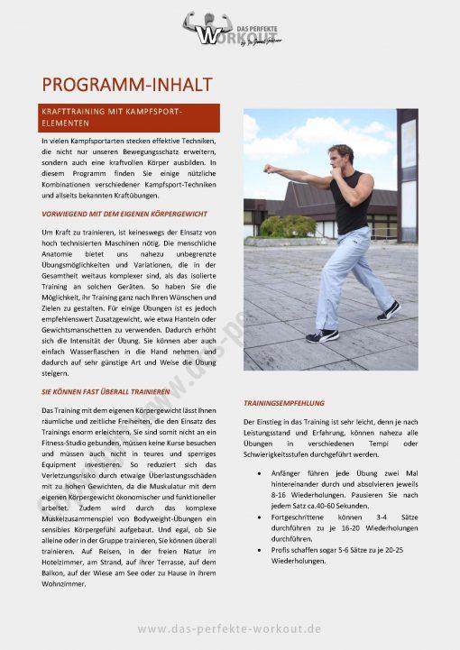 Ganzkörper Trainingsprogramm Martial Arts